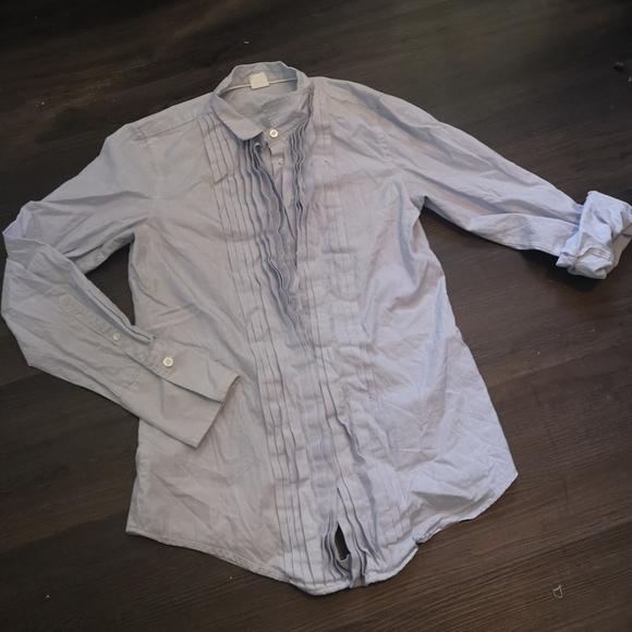 Blue pinstripe button down dress shirt from J Crew